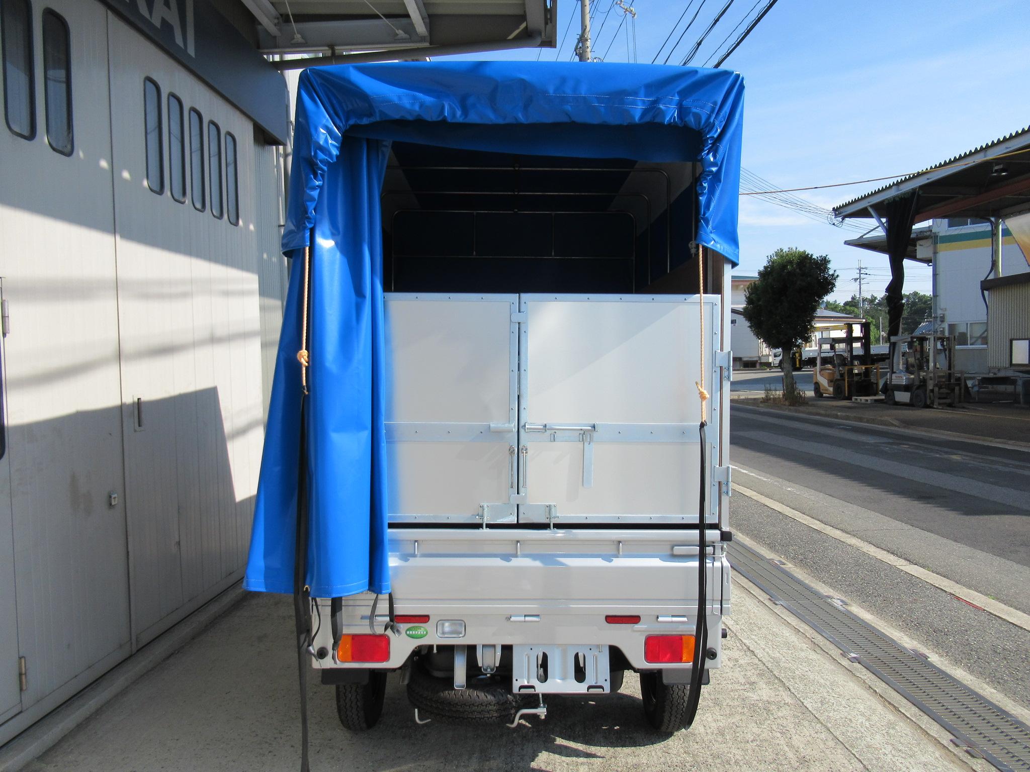 幌色ブルー (アルミパネル式A 簡易アルミカンノン扉 500×200)