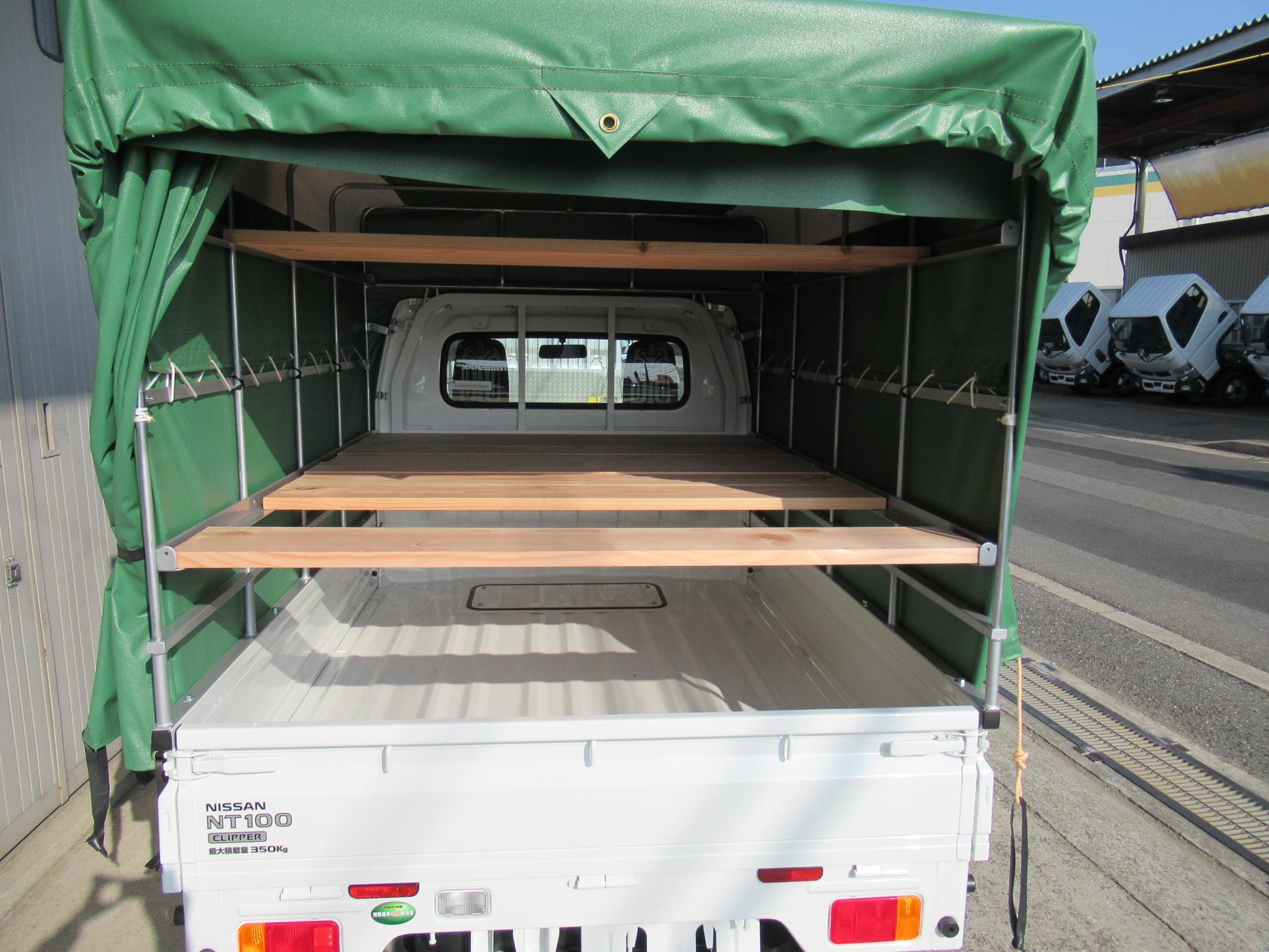ランカン式幌架装 内部アングル棚・棚板製作